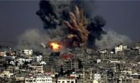 قصف غزة.