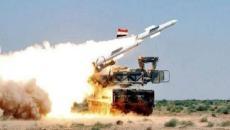 الدفاعات الجوية السورية.