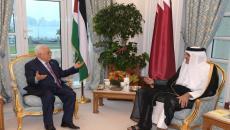 الرئيس عباس وامير قطر تميم.