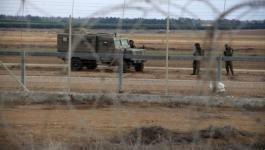دورية للجيش الاسرائيلي على حدود غزة.jpg