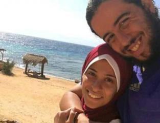 الشاب المصري احمد شعبان وزوجته.jpg
