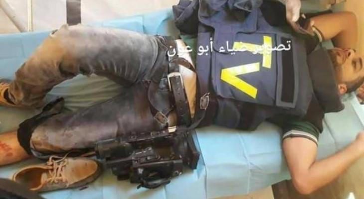 اصابة صحفي في مليونية العودة.jpg