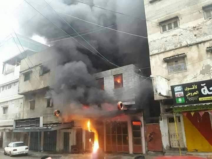 حريق بمحل غزة1.jpg