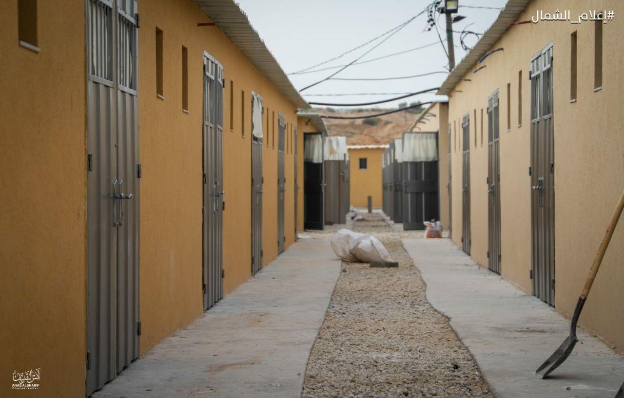 تجهيز غرف حجر صحي شمال غزة2.jpg