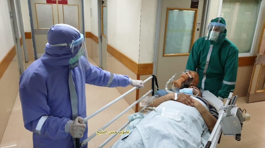 مناورة طبية في الاوروبي تحاكي اصابات بكورونا6.jpg