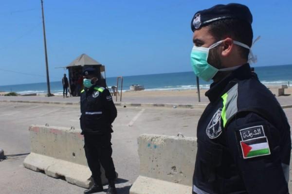 الشرطة على كورونيش غزة كورونا1.jpg