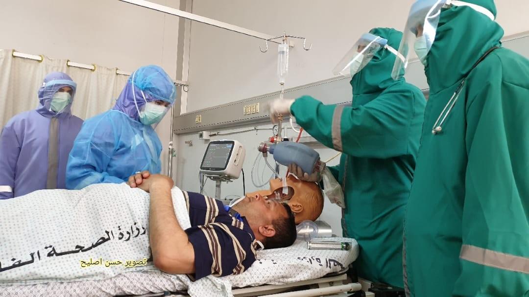 مناورة طبية في الاوروبي تحاكي اصابات بكورونا9.jpg