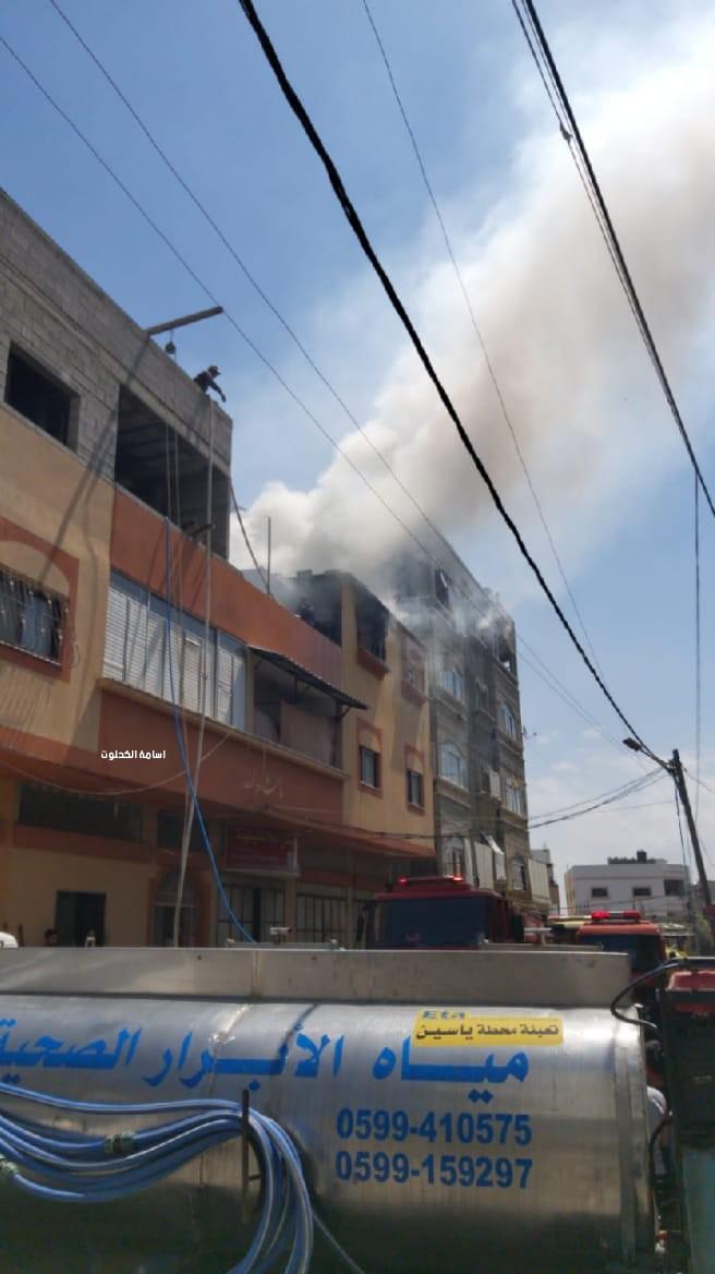 غزة حريق بشقة سكنية1.jpg