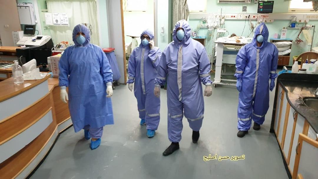 مناورة طبية في الاوروبي تحاكي اصابات بكورونا2.jpg