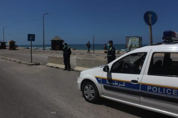 الشرطة على كورونيش غزة كورونا.jpg