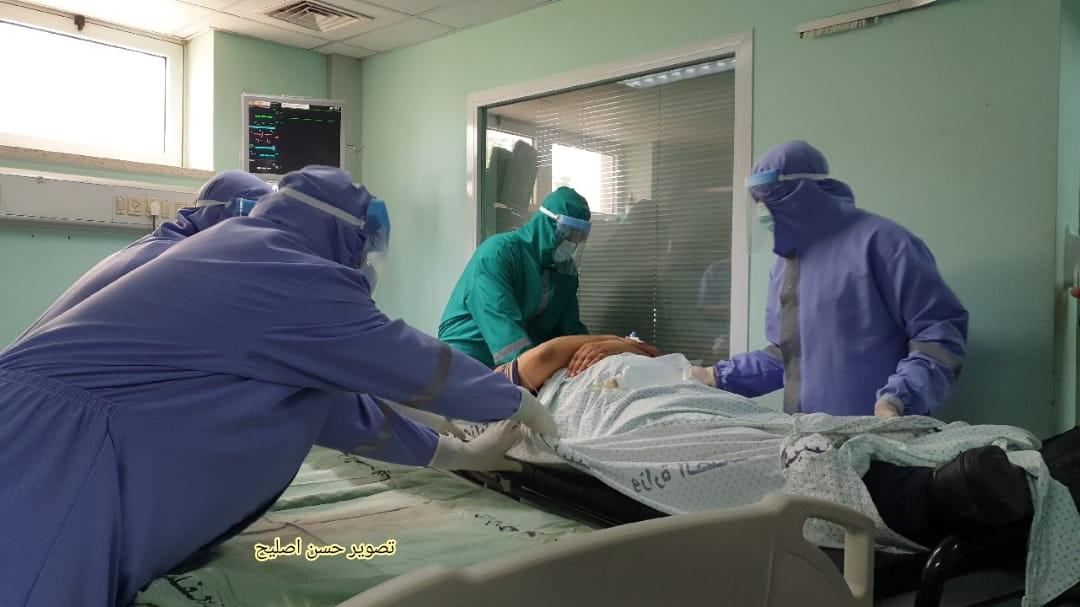 مناورة طبية في الاوروبي تحاكي اصابات بكورونا.jpg