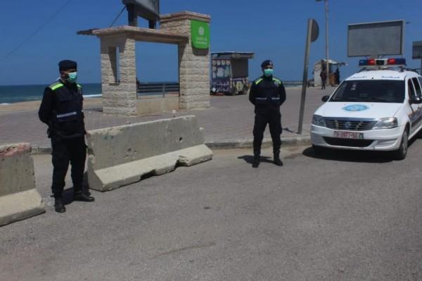 الشرطة على كورونيش غزة كورونا2.jpg