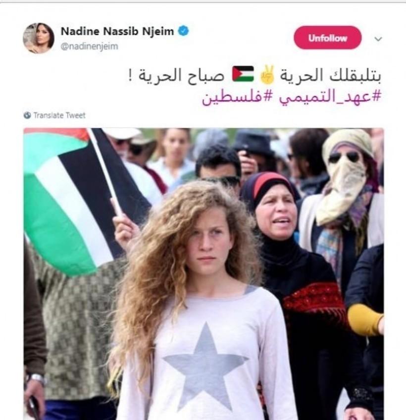 نادين نجيم وتغريدتها لعهد.jpg